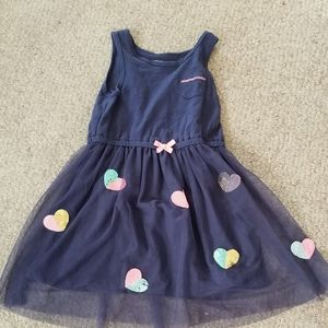 Girls T Shirt Dress With Tulle Skirt